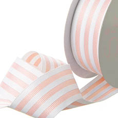 Grosgrain Ribbons - Ribbon Grosgrain Stripes Baby Pink (38mmx20m)