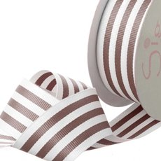 Grosgrain Ribbons - Ribbon Grosgrain Stripes Chocolate (38mmx20m)