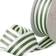 Grosgrain Ribbons - Ribbon Grosgrain Stripes Olive (38mmx20m)