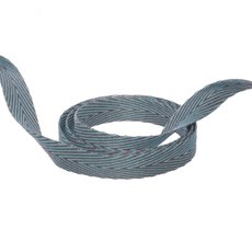 Herringbone Twill Ribbon - Duo Herringbone Ribbon Baby Blue & Latte (10mmx20m)
