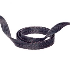 Herringbone Twill Ribbon - Duo Herringbone Ribbon Navy & Latte (10mmx20m)