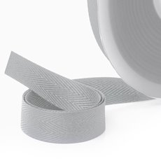 Herringbone Twill Ribbon - Ribbon Twill Herringbone Light Grey (15mmx20m)