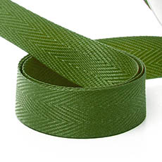 Ribbon Twill Herringbone Moss (15mmx20m)