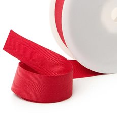 Ribbon Twill Herringbone Red (25mmx20m)
