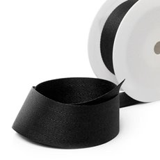 Herringbone Twill Ribbon - Ribbon Twill Herringbone Black (38mmx20m)
