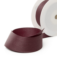 Herringbone Twill Ribbon - Ribbon Twill Herringbone Burgundy (38mmx20m)