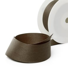 Herringbone Twill Ribbon - Ribbon Twill Herringbone Chocolate (38mmx20m)