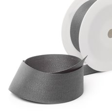 Herringbone Twill Ribbon - Ribbon Twill Herringbone Light Grey (38mmx20m)