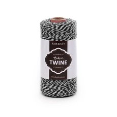 Bakers Twine 4ply 1mm X 219m Black/White