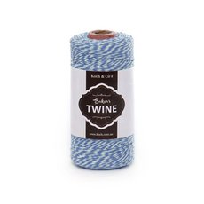 Bakers Twine 4ply 1mm X 219m Blue/White