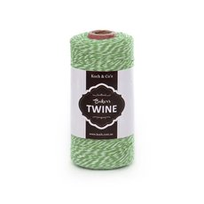 Twine - Bakers Twine 4ply Green White (1mmx219m)