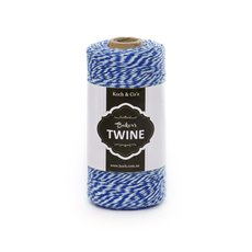 Bakers Twine 4ply 1mm X 219m Navy/White