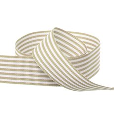 Grosgrain Fine Stripes Ribbon Natural (25mmx20m)