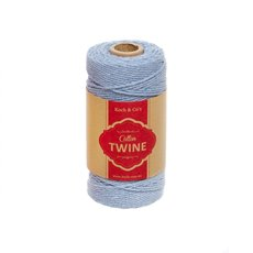 Twine - Cotton Twine 12ply 1.2mm X 100m Baby Blue