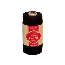 Twine - Cotton Twine 12ply 1.2mm X 100m Black