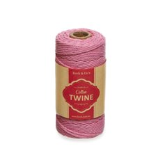 Twine - Cotton Twine 12ply 1.2mm X 100m Baby Pink