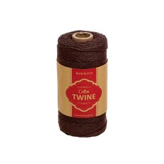 Twine - Cotton Twine 12ply 1.2mm X 100m Chocolate