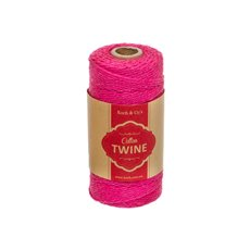 Cotton Twine - Cotton Twine 12ply 1.2mm X 100m Hot Pink