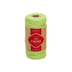 Cotton Twine 12ply 1.2mm X 100m Lime
