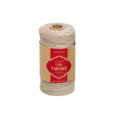 Twine - Cotton Twine 12ply 1.2mm X 100m Natural