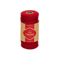 Twine - Cotton Twine 12ply 1.2mm X 100m Red