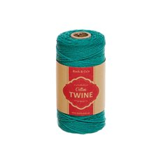 Cotton Twine 12ply 1.2mm X 100m Teal