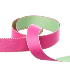 Ribbon Double Face Satin Reversible Fuchsia Mint (20mmx20m)
