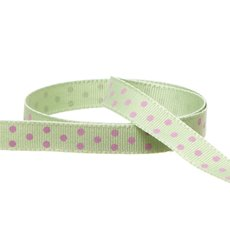 Grosgrain Swiss Dot Ribbon Lime (10mmx20m)