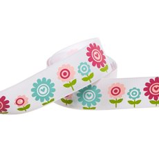 Spring Flowers Grosgrain Ribbon (25mmx20m)