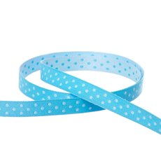 Double Face Satin Swiss Dot DUO Ribbon Aqua (10mmx10m)