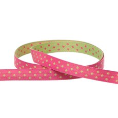 Double Face Satin Swiss Dot DUO Hot Pink Lime (10mmx10m)