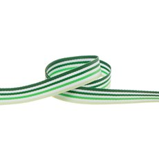 Taffeta Multi Colour Stripes Green (10mmx20m)