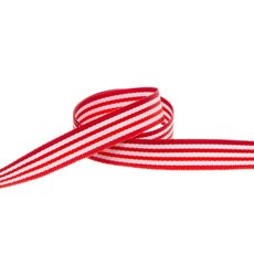 Taffeta Ribbon - Taffeta Stripes Red (10mmx20m)