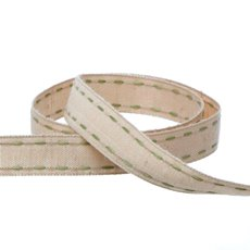 Cotton Ribbon Saddle Stitch Moss (15mmx20m)