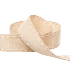 Cotton & Linen Ribbons - Cotton Ribbon Saddle Stitch Baby Pink (25mmx20m)