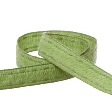 Cotton & Linen Ribbons - Coloured Cotton Ribbon Saddle Stitch Moss (15mmx20m)