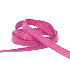 Cotton & Linen Ribbons - Coloured Cotton Plain Ribbon Hot Pink (5mmx20m)