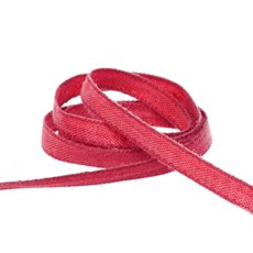 Cotton & Linen Ribbons - Coloured Cotton Ribbon Red (5mmx20m)