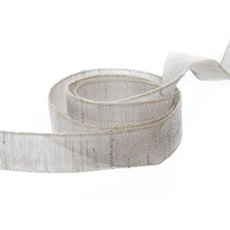 Cotton & Linen Ribbons - Vintage Cotton Ribbon Light Grey (15mmx20m)