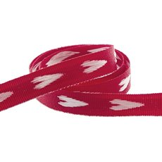 Heart Cotton Ribbon Red (10mmx20m)