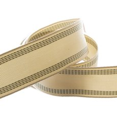 Burlap Webbing Ribbon with Stitch Moss (40mmx10m)