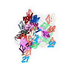 Confetti Number No. 21 Multi Colours 25g Bag