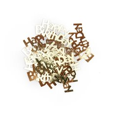 Confetti Happy Birthday 14g Gold