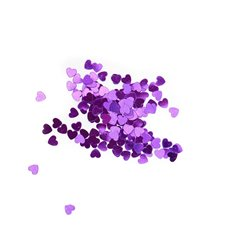 Confetti Heart Regular 14g Purple