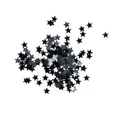 Confetti Star Black Mini 5mm 15g Bag