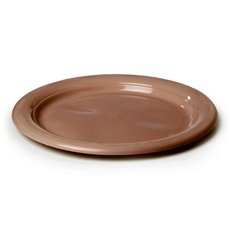Party Tableware - Deluxe Plastic Plate Rose Gold (23cmD) Pack 25