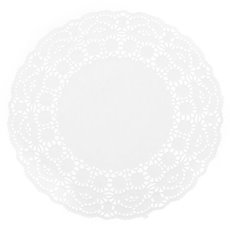 Party Tablecloths & Napkins - Paper Doily Round 24 Pack White (215mmD)