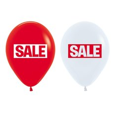 Latex Balloon 12 Sale Mixed Pack 50 White and Red