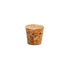 Glass Bottles - Small Cork Pack of 12 Natural (21Dx16Bx20mmH)