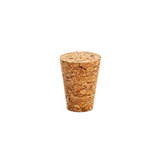 Glass Bottles - Medium Cork Pack of 6 Natural (26Dx17Bx35mmH)